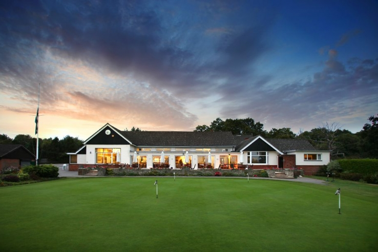 The clubhouse at Stoneham Golf Club.