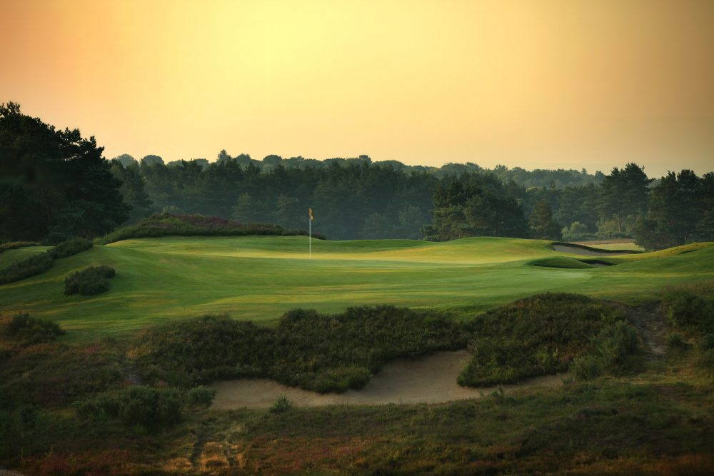 A Harry Colt green site at Sunningdale Golf Club New Course.
