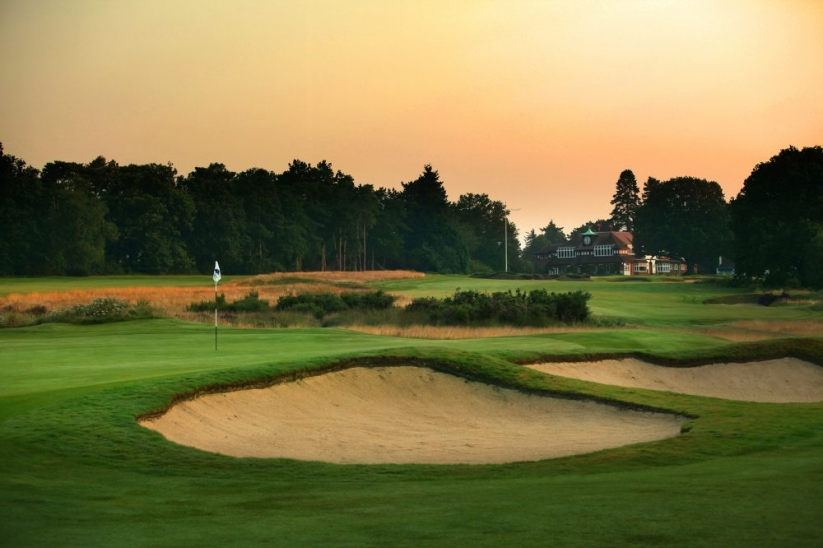 The bunkers greenside at Sunningdale Golf Club Old Course.
