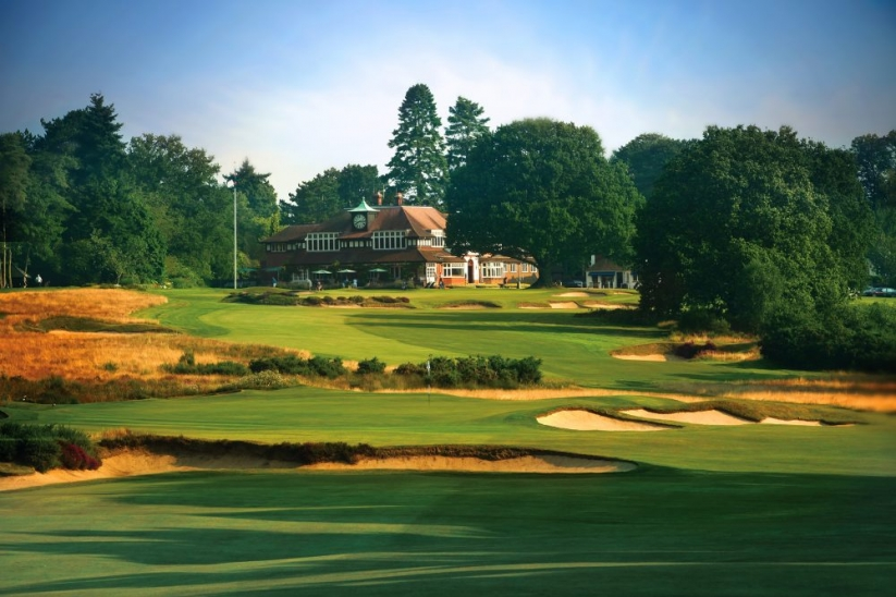 Looking towards the clubhouse at Sunningdale Golf Club Old Course.