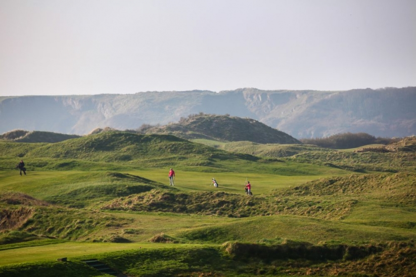 The links at Tenby Golf Club.