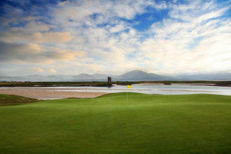 The 8th green at Tralee Golf Club.