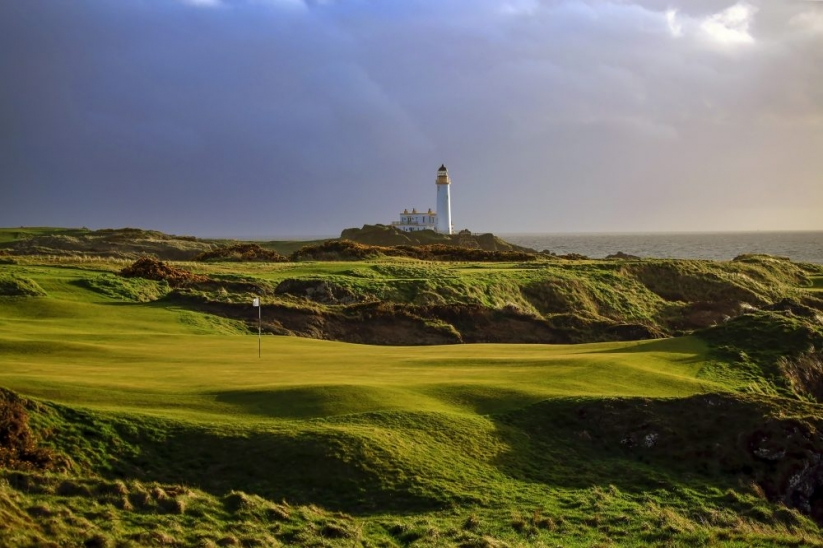 The lighthouse from the 11th hole on The Ailsa at Turnberry.