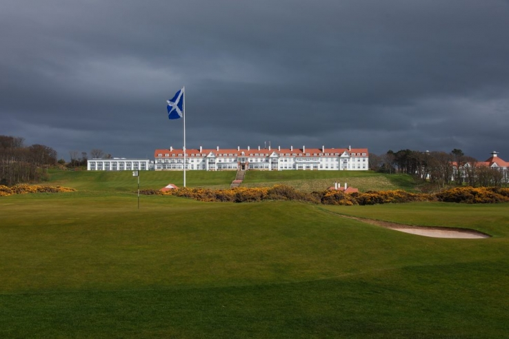 The iconic clubhouse at Trump Turnberry.