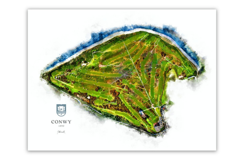 WaterMap COurse Map Conwy Golf Club