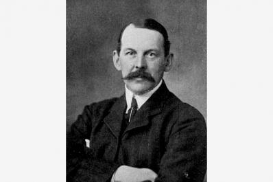 A portrait of Herbert Fowler by Montague Cooper.