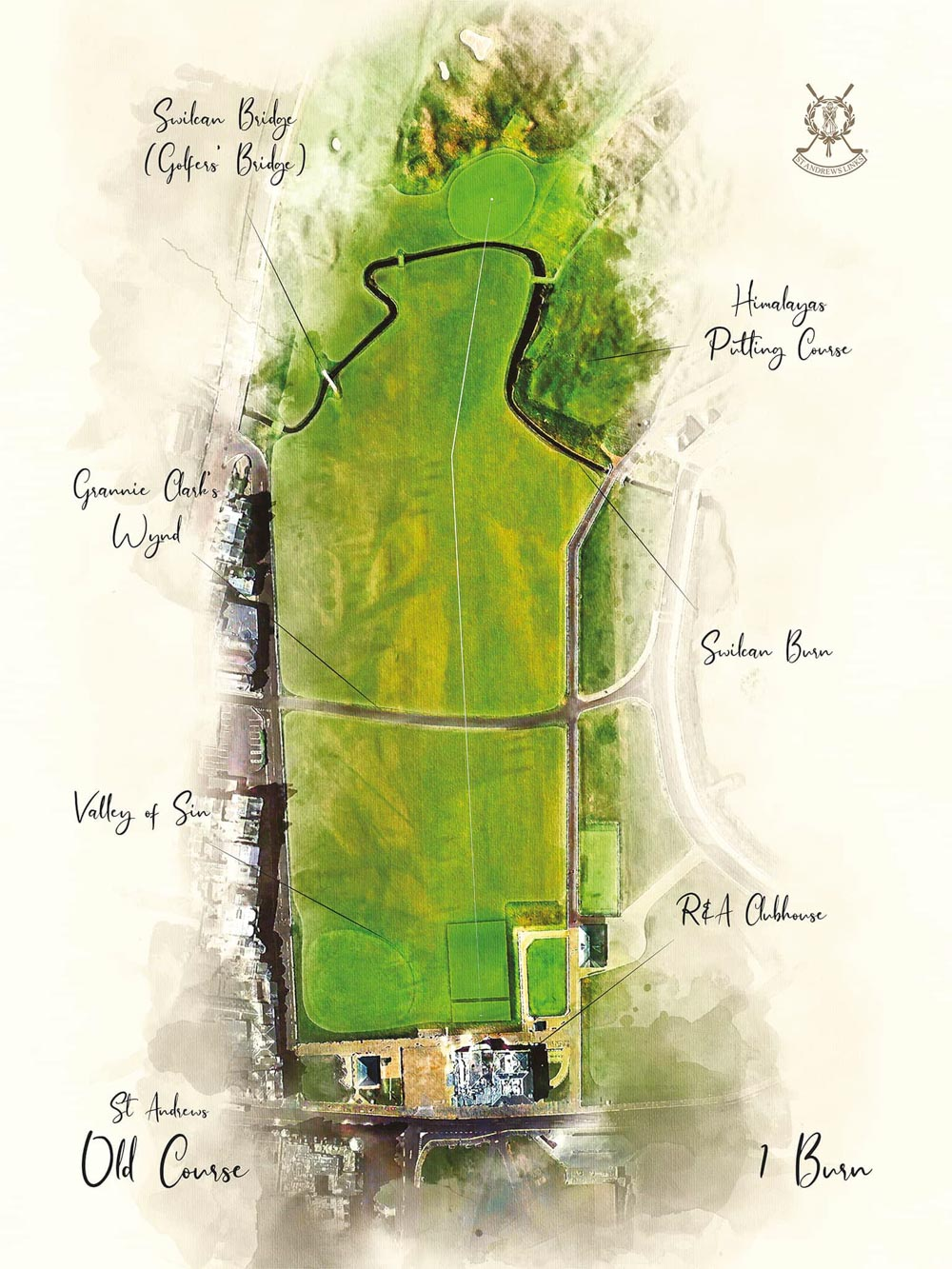 Hole 1 & Hole 18 at the Old Course St Andrews.