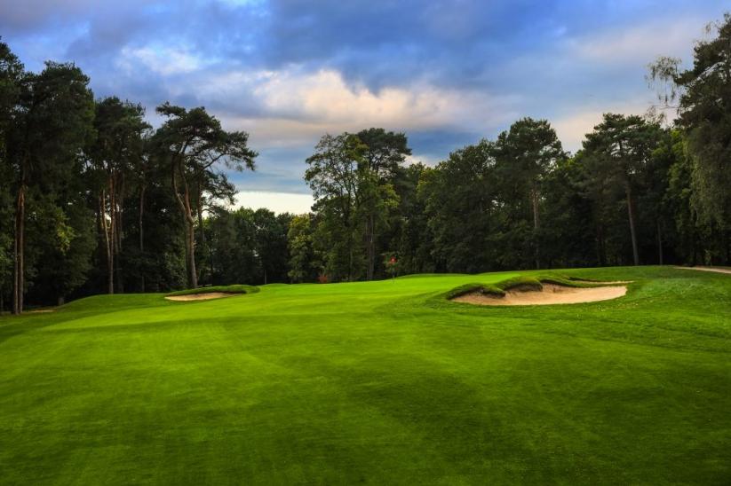 The 12th hole at West Byfleet Golf Club.