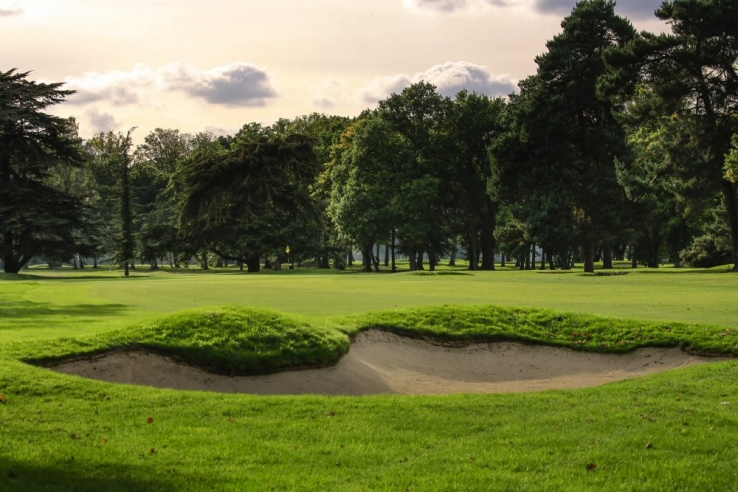 Bunkers at JF Abercromby's West Byfleet Golf Club.
