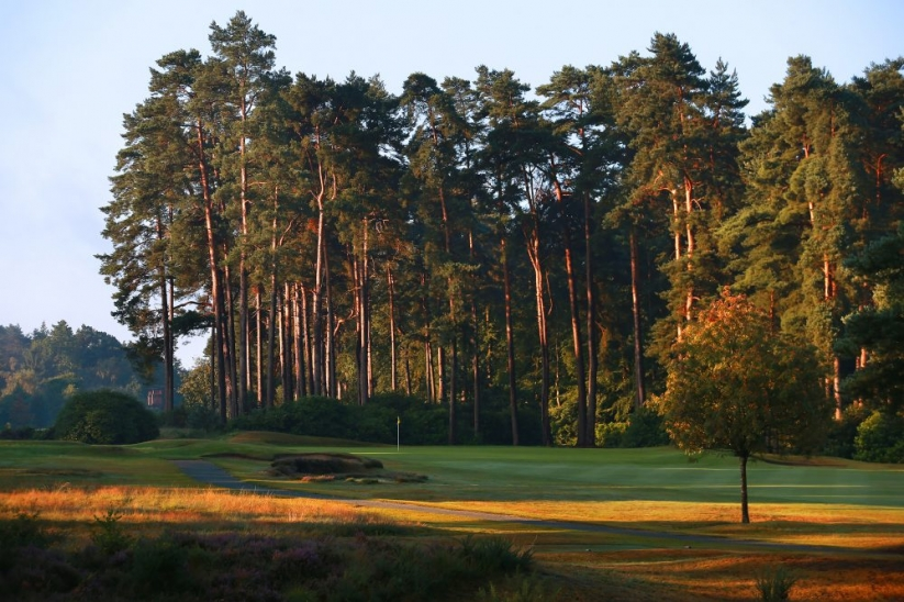 The opening hole at West Hill Golf Club.
