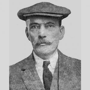 A portrait of golf course architect Willie Park Jr.
