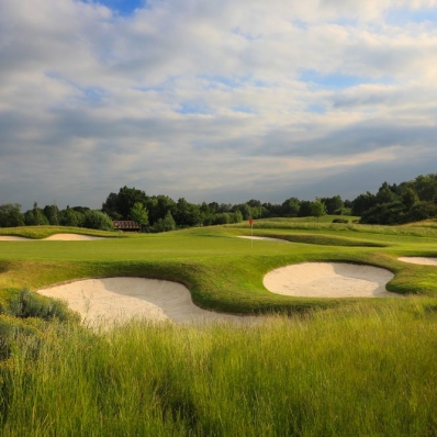 Bunkers at The Wisley near London, England.