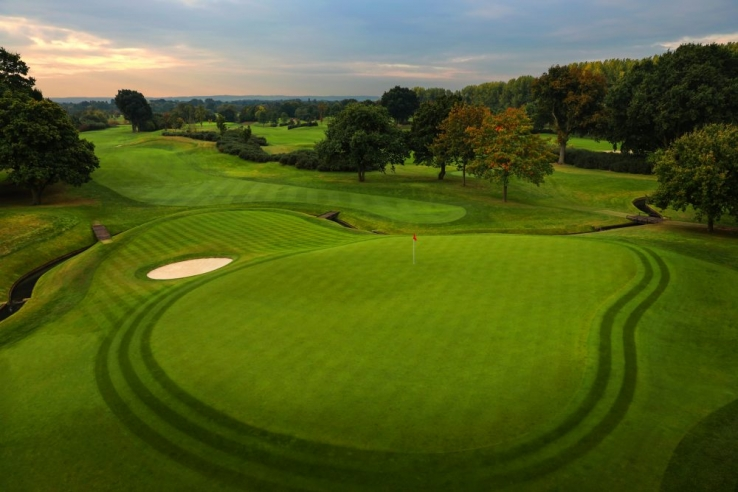 The manicured golf course at The Wisley.