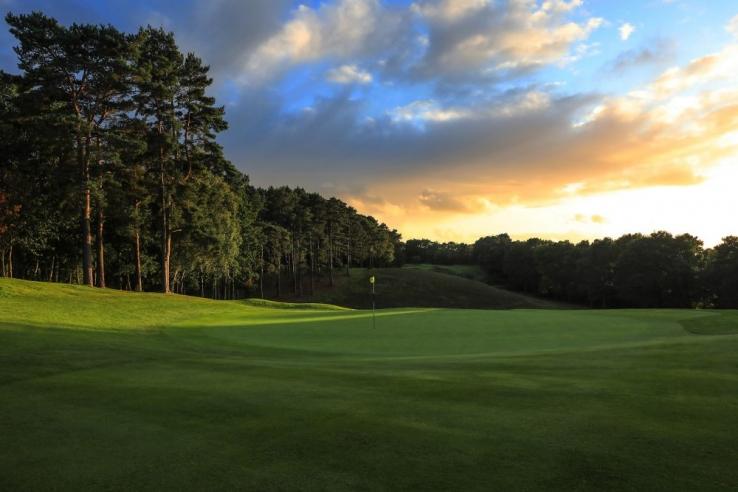 The home hole at Camberley Heath Golf Club.