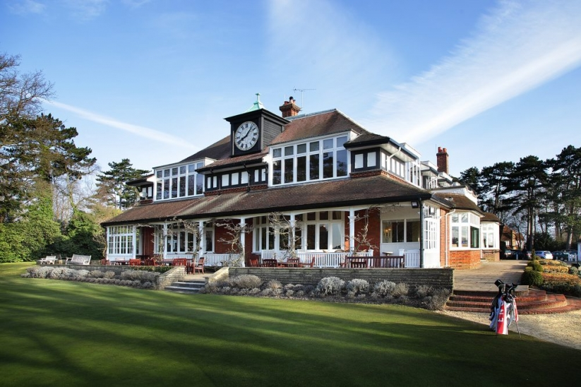 The clubhouse at SUNNINGDALE GOLF CLUB.