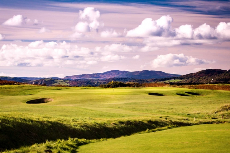 The 4th hole at Southerness Golf Club.
