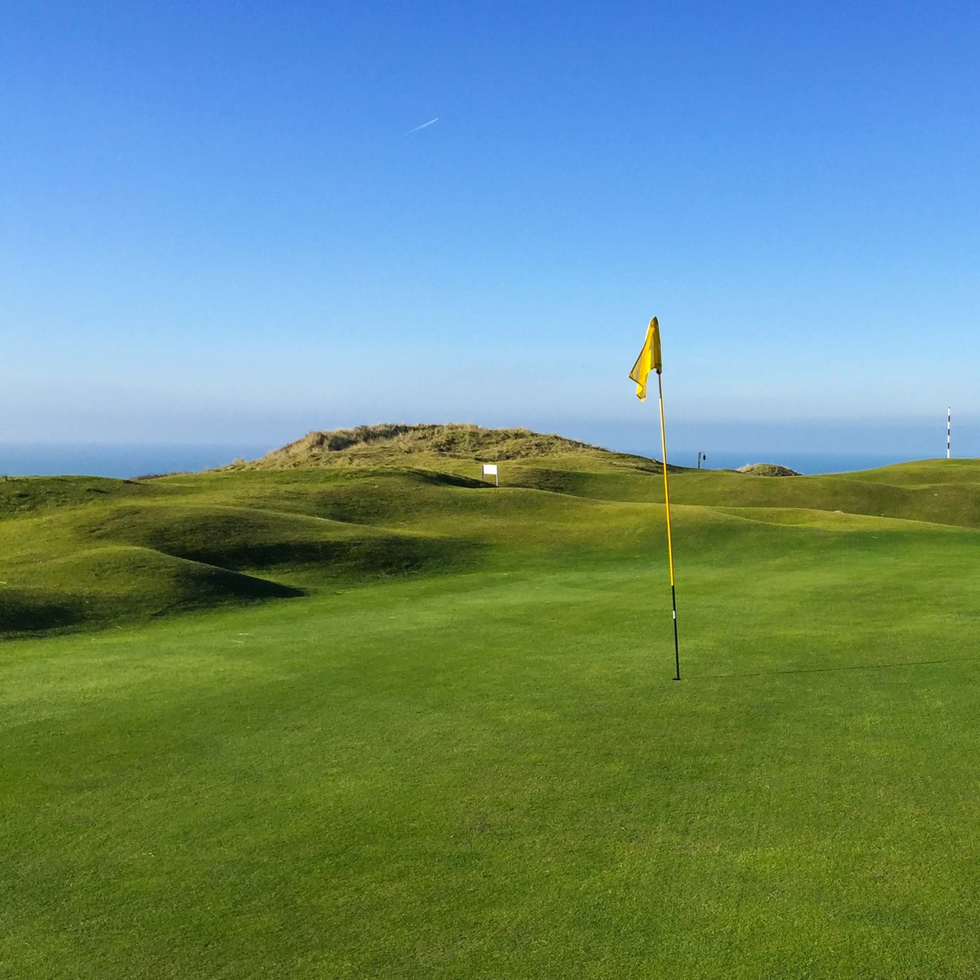 The rugged links at Perranporth Golf Club.