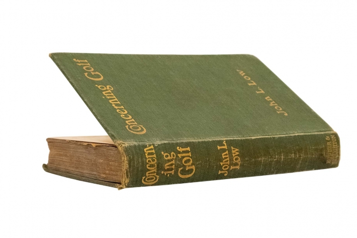 A photo of John Low 's book Concerning Golf Book Cover Photo which contains his Articles of Faith.
