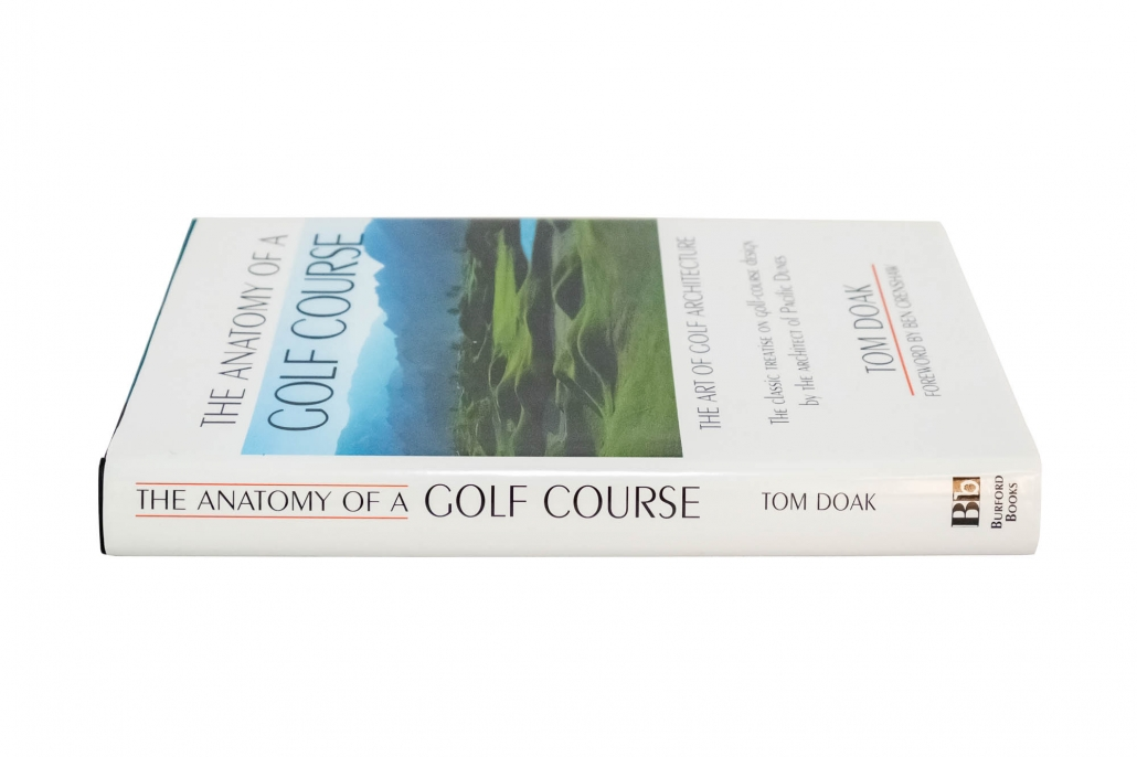 A photo of Tom Doak's book Anatomy of a Golf Course.