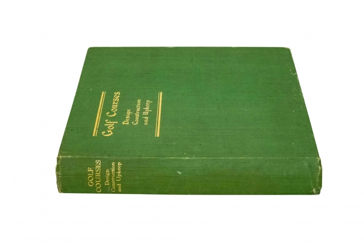 Photo of Sutton's second edition of Golf Courses Design, Construction & Upkeep.