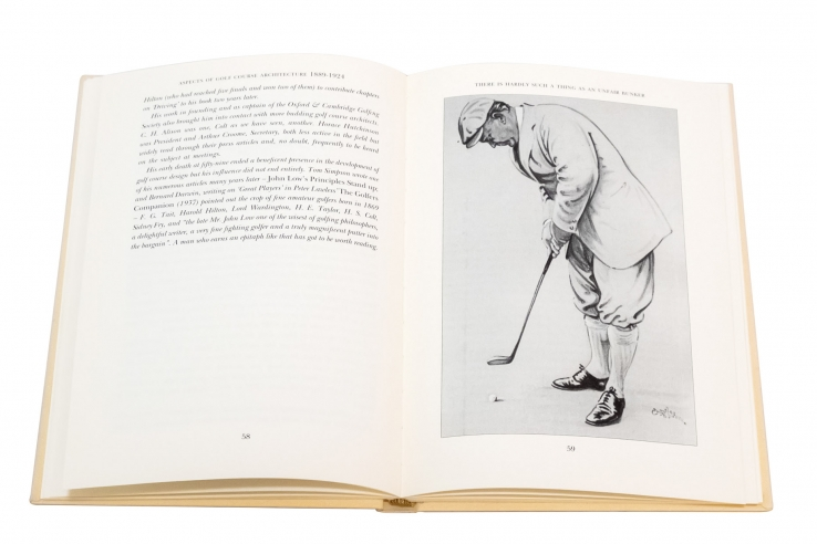 A photo of some artwork in the book Aspects of Golf Architecture 1889 1924 Volume 1 One.