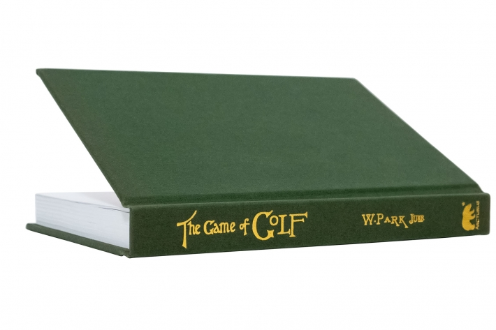 A photo showing the cover and book The Game of Golf by Willie Park Jr.