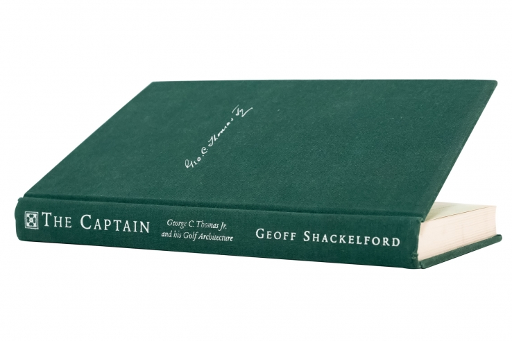 A photo of the cover of the book Captain George C Thomas by Geoff Shackelford.