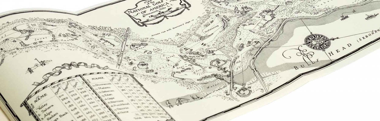 The foldout map in the book Scotland's Gift Golf.