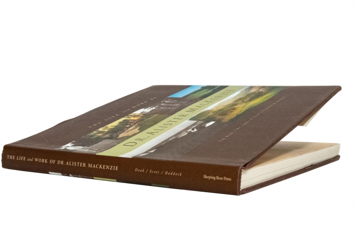 A photo of the book Life and Work of Dr. Alister Mackenzie by Tom Doak.