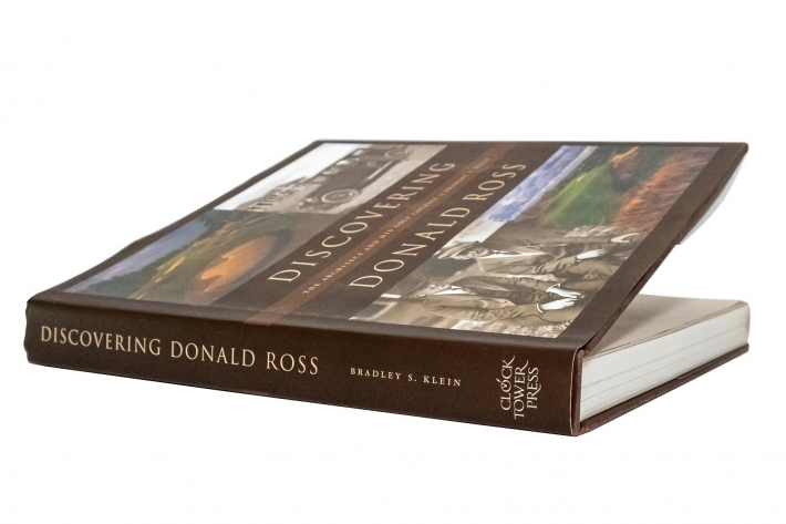 The photo shows the book Discovering Donald Ross The Architect And His Golf Courses by Bradley Klein.