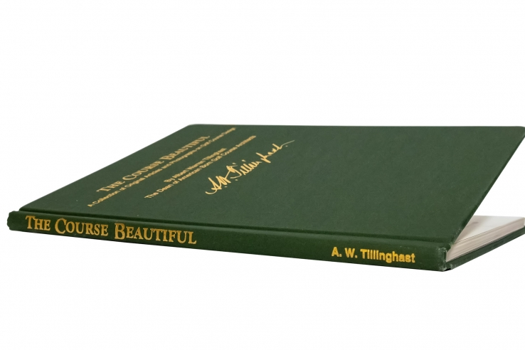The cover of the book, the Course Beautiful book by AW Tillinghas.