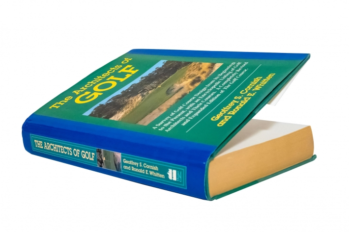 A photo of the cover of the book The Architects of Golf.