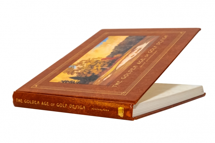 A photo of the book The Golden Age of Golf Design by Geoff Shackelford.