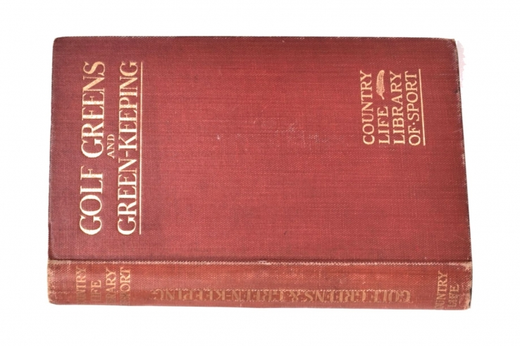 A photo of the first edition of Golf Greens and Green-Keeping.