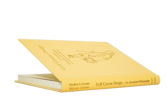 A photo of the cover of the rare book Golf Course Design - An Annotated Biography.