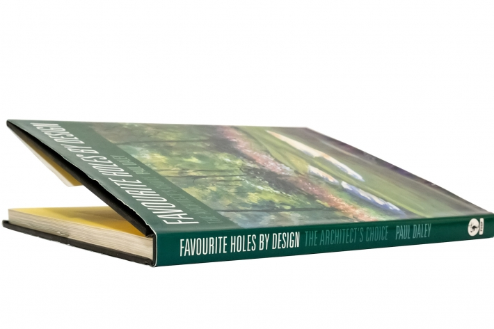 A photo of the book Favourite Holes by Design by Paul Daley is shown.