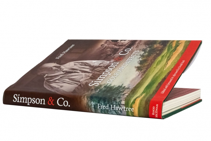 A photo of the book Simpson & Co Golf Architects.