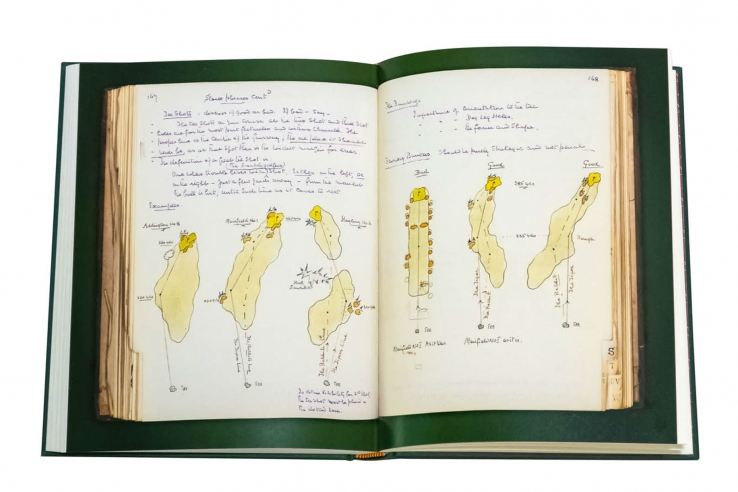 Drawings from Tom Simpson in the book Simpson & Co Golf Architects.