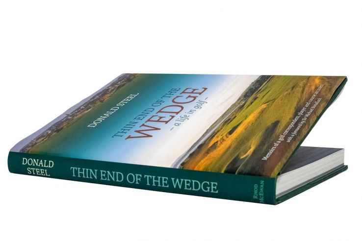A photo of the book Thin End Of The Wedge - A Life in Golf by Donald Steel.