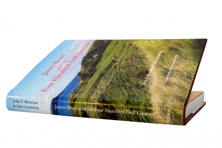 The cover of the book James Braid and His 400 Golf Courses.