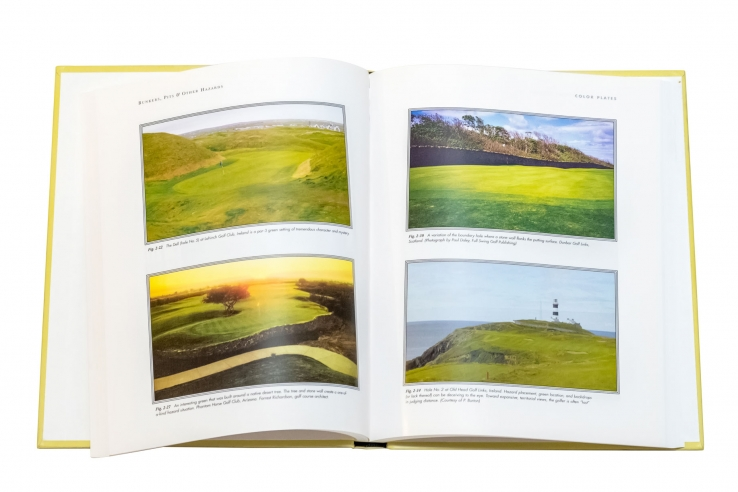 A photo of the some illustrations of the book Bunkers Pits & Other Hazards.
