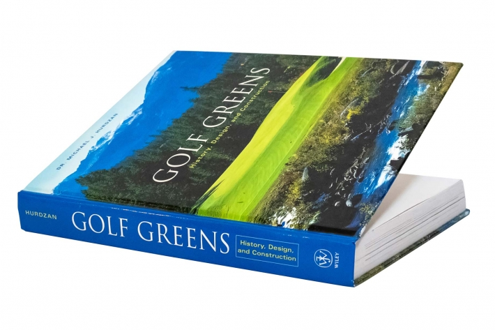 A cover shot of the book Golf Greens: History, Design and Construction.