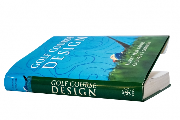 The book Golf Course Design is shown.
