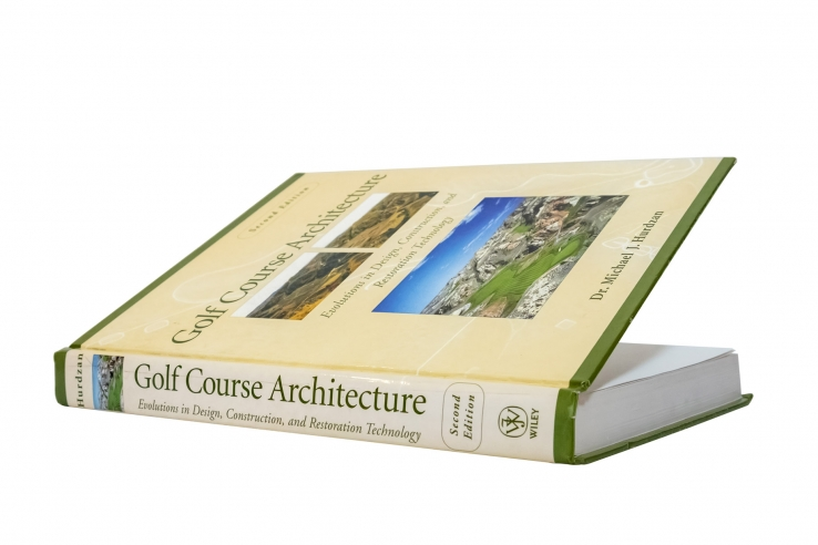 The cover of the book, Golf Course Architecture, is shown in full detail.