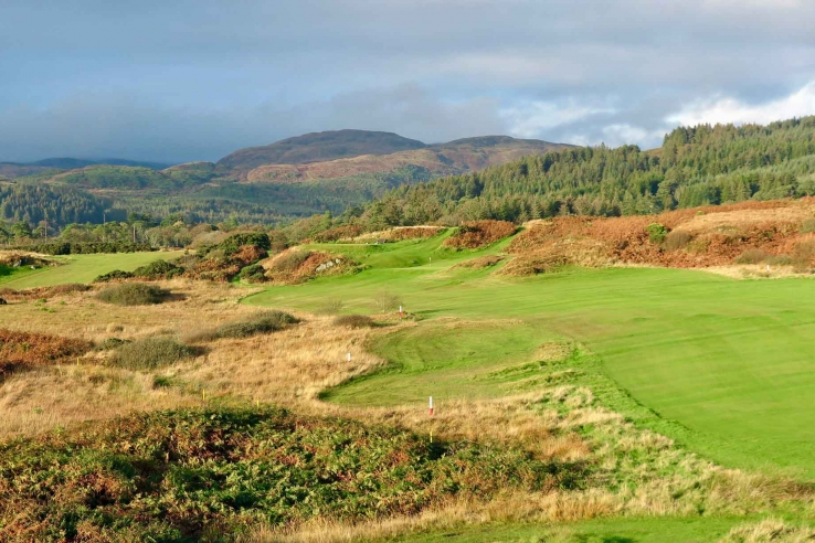 A photo of the wide and accepting fairways at Carradale Golf Club.