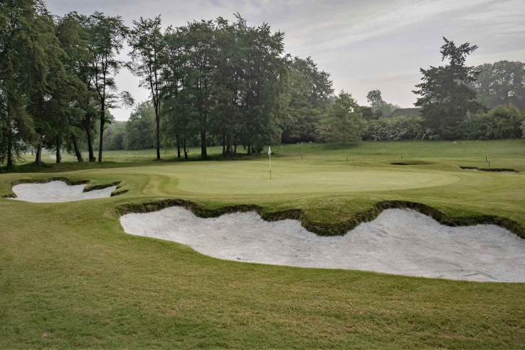 A photo of the new bunkering at A photo of the new bunkering at Effingham Golf Club.