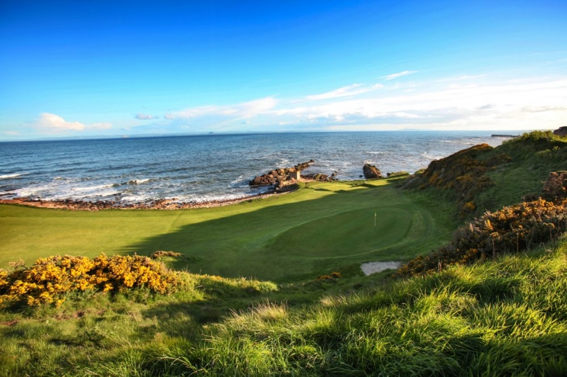 The Firth of Forth at Anstruther Golf Club.