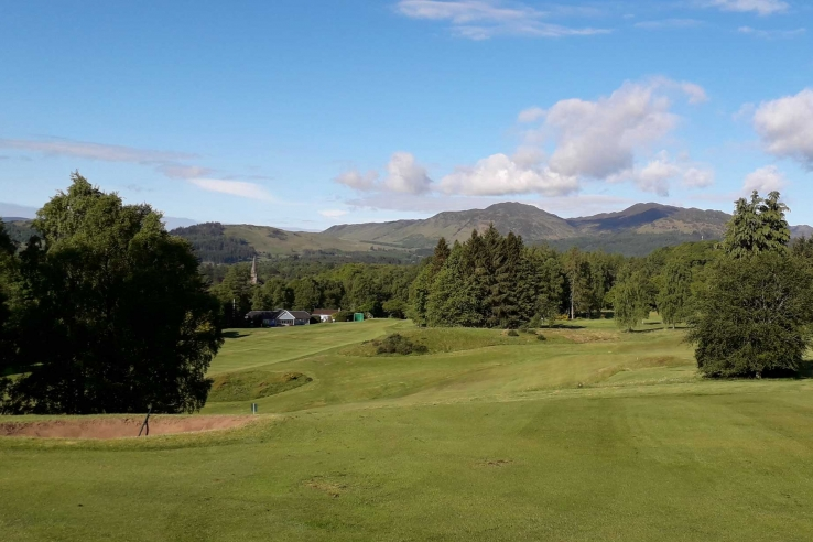 The fourth hole at Comrie Golf Club.