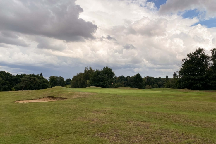 Gentle contours of Harry Colt at Rickmansworth Golf Club.