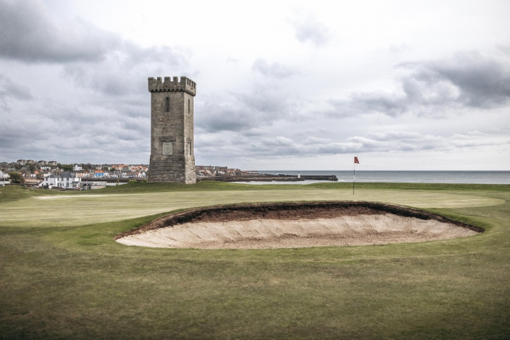 A photo of the Anstruther Golf Club links in Scotland.